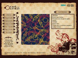 Thumbnail do site Café com Letras