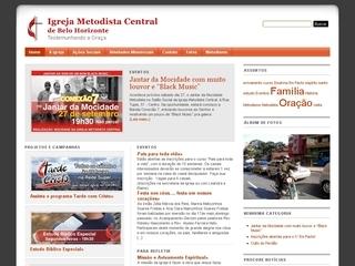 Thumbnail do site Igreja Metodista Central Belo Horizonte
