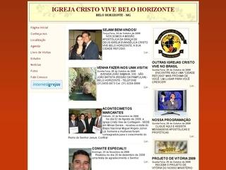 Thumbnail do site Igreja Cristo Vive Belo Horizonte