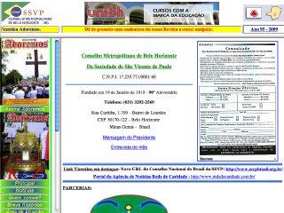 Thumbnail do site Conselho Metropolitano de Belo Horizonte da SSVP
