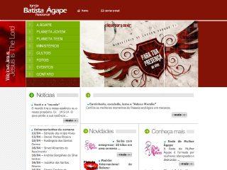 Thumbnail do site Igreja Batista Ágape - Belo Horizonte
