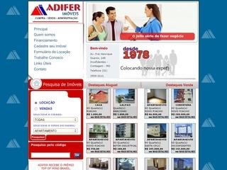 Thumbnail do site Adifer Imóveis