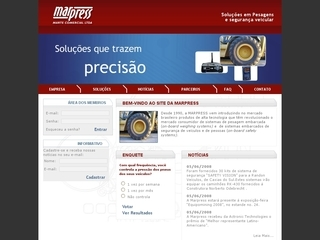 Thumbnail do site MARPRESS - Marte Comercial Ltda