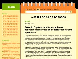 Thumbnail do site Amigos da Serra do Cipó