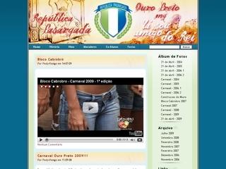 Thumbnail do site República Pasárgada de Ouro Preto