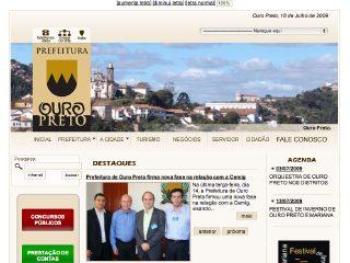 Thumbnail do site Prefeitura Municipal de Ouro Preto