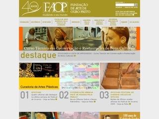 Thumbnail do site FAOP - Fundação de Arte de Ouro Preto
