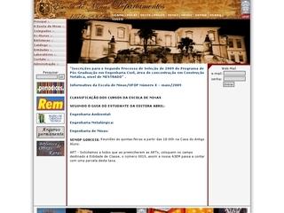 Thumbnail do site Escola de Minas - Ouro Preto