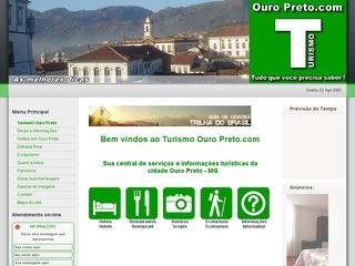 Thumbnail do site Ouro Preto - Portal de Serviços Turísticos