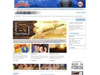 Thumbnail do site República Taranóia de Ouro Preto