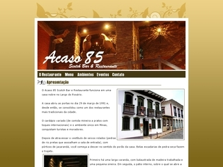 Thumbnail do site Acaso 85 - Scotch Bar & Restaurante