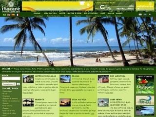 Thumbnail do site Itacare.com: o portal de Itacaré