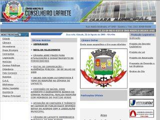 Thumbnail do site Câmara Municipal de Conselheiro Lafaiete