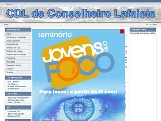 Thumbnail do site Câmara de Dirigentes Lojista de Conselheiro Lafaiete