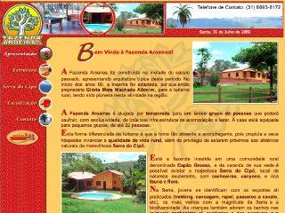 Thumbnail do site Fazenda Aroeiras