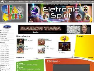 Thumbnail do site Clickeventos.com.br - Seu Portal de Eventos