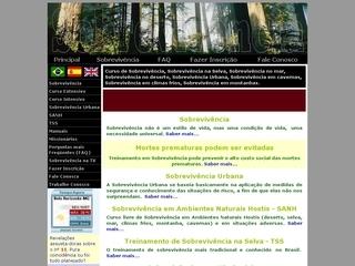 Thumbnail do site Cursos de Sobrevivência na selva, deserto, mar