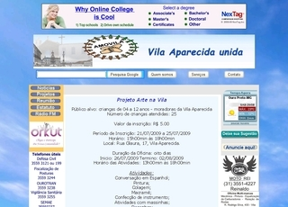 Thumbnail do site Vila Aparecida - Ouro Preto