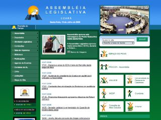 Thumbnail do site Assembléia Legislativa do Estado de Ceará