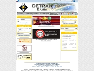 Thumbnail do site DETRAN - Bahia