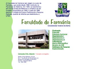 Thumbnail do site Faculdade de Farmácia