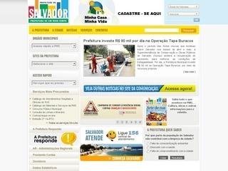 Thumbnail do site Prefeitura Municipal do Salvador