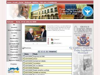 Thumbnail do site Câmara Municipal de Salvador