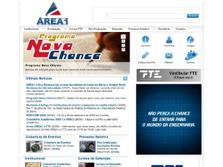 Thumbnail do site ÁREA 1 - Faculdade de Ciência e Tecnologia