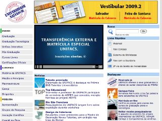 Thumbnail do site UNIFACS - Universidade Salvador