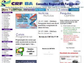 Thumbnail do site Conselho Regional de Farmácia - Bahia