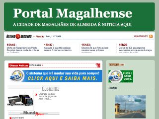 Thumbnail do site Portal Magalhense