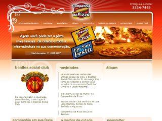 Thumbnail do site Companhia da Pizza