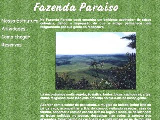 Thumbnail do site Fazenda Paraíso