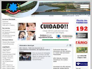 Thumbnail do site Prefeitura Municipal de São Miguel do Iguaçu