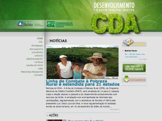 Thumbnail do site CDA - Coordenação de Desenvolvimento Agrário