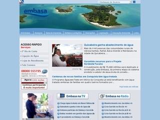 Thumbnail do site Embasa Emp. Bahiana de Águas e Saneamento