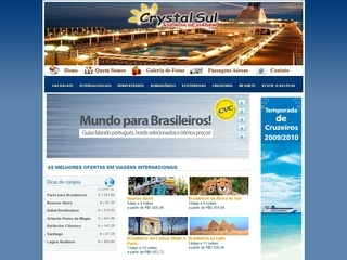 Thumbnail do site Crystal Sul Turismo