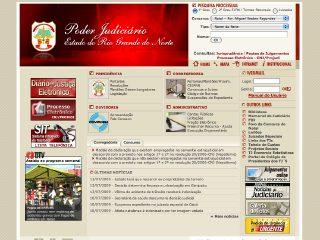 Thumbnail do site Poder Judiciário do Rio Grande do Norte