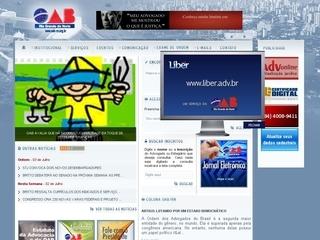 Thumbnail do site OAB/RN:  Ordem dos Advogados do Brasil