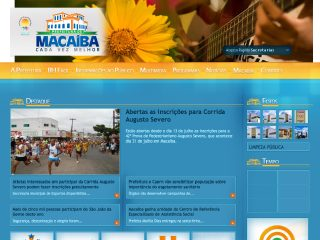 Thumbnail do site Prefeitura Municipal de Macaiba