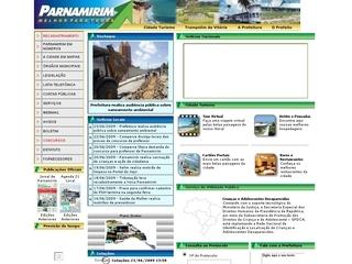 Thumbnail do site Prefeitura Municipal de Parnamirim