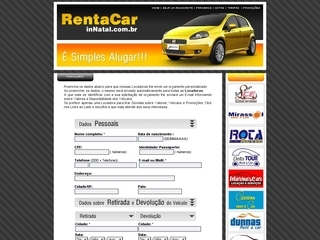 Thumbnail do site Rent a Car in Natal