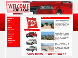 Thumbnail do site Welcome Rent a Car