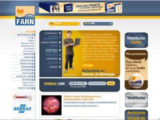 Thumbnail do site Faculdade Natalense para o Desenvolvimento do RN [FARN]