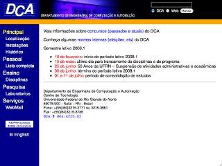 Thumbnail do site Departamento de Engenharia da Computacao e Automacao - UFRN