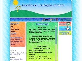 Thumbnail do site Núcleo Educacional Infantil - UFRN