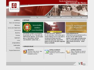 Thumbnail do site ESMARN - Escola da Magistratura do Rio Grande do Norte