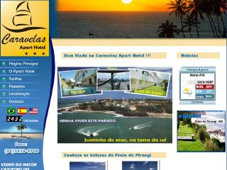 Thumbnail do site Caravelas Apart Hotel