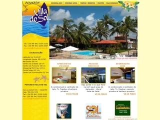 Thumbnail do site Pousada Villa do Sol