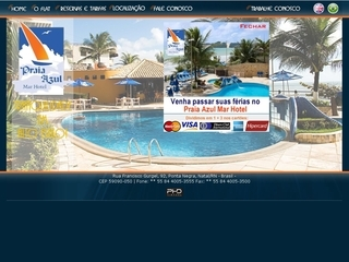 Thumbnail do site Praia Azul Mar Hotel